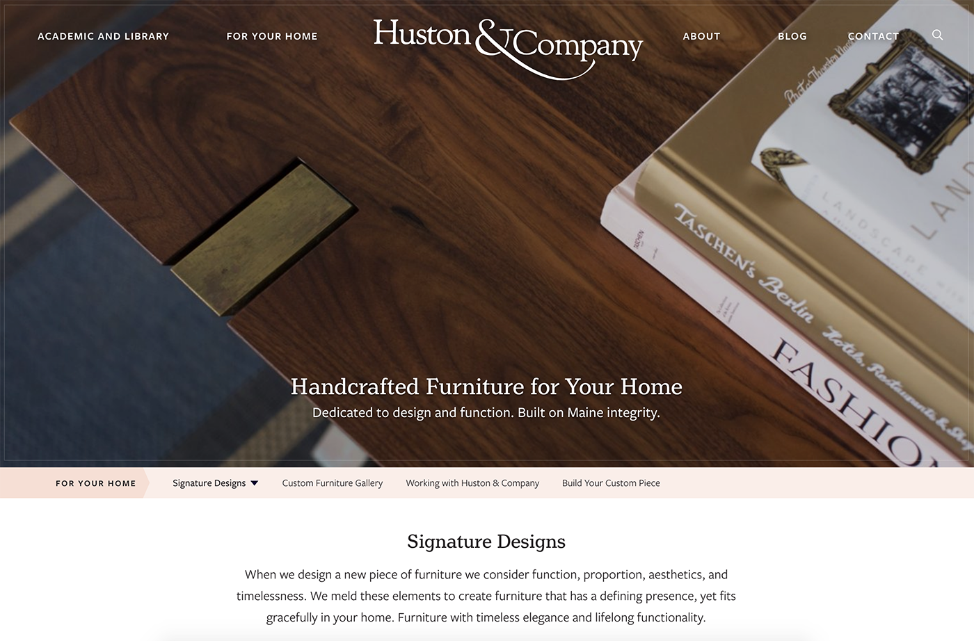 Huston and Company Website